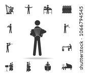 man playing accordion icon.... | Shutterstock .eps vector #1066794545