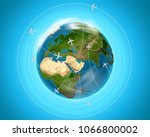 travel destination concept with ... | Shutterstock .eps vector #1066800002