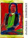 Lakota Chief Red Cloud Holding...