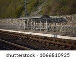 railway station. stop. | Shutterstock . vector #1066810925