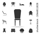 chair icon. detailed set of... | Shutterstock .eps vector #1066811828