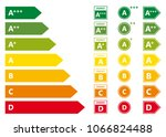 energy efficiency rating vector ... | Shutterstock .eps vector #1066824488