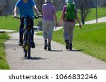 cyclist ride on holiday at... | Shutterstock . vector #1066832246