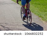 cyclist ride on holiday at... | Shutterstock . vector #1066832252