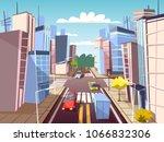 city street vector illustration ... | Shutterstock .eps vector #1066832306