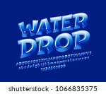 vector blue sign water drop.... | Shutterstock .eps vector #1066835375