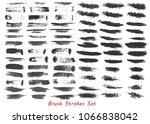 grungy brush strokes set | Shutterstock . vector #1066838042