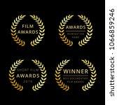 film awards logotype. isolated... | Shutterstock .eps vector #1066859246