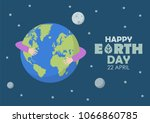 happy earth day. greeting card... | Shutterstock .eps vector #1066860785
