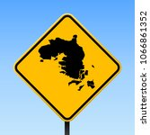 bintan island map road sign.... | Shutterstock .eps vector #1066861352
