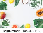 summer tropical composition.... | Shutterstock . vector #1066870418