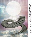 fantasy stairway in the sky...   Shutterstock . vector #106687868