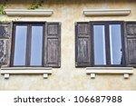 twin european style window. | Shutterstock . vector #106687988
