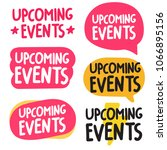 upcoming events. set of hand... | Shutterstock .eps vector #1066895156