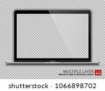 realistic silver notebook with... | Shutterstock .eps vector #1066898702