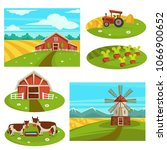 farm household or farmer... | Shutterstock .eps vector #1066900652