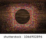 an empty invitation to a... | Shutterstock .eps vector #1066902896