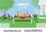illustration vector of foods on ... | Shutterstock .eps vector #1066908902