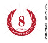 8 years anniversary. elegant... | Shutterstock .eps vector #1066919942