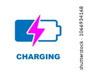 battery charging vector icon | Shutterstock .eps vector #1066934168