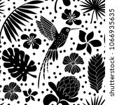 seamless pattern with humming...   Shutterstock .eps vector #1066935635