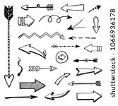 set of hand drawn different... | Shutterstock .eps vector #1066936178