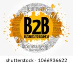 b2b  business to business ...   Shutterstock . vector #1066936622