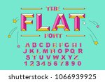 vector of modern bold font and... | Shutterstock .eps vector #1066939925