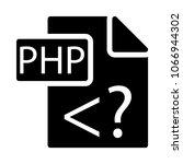 php document file  | Shutterstock .eps vector #1066944302