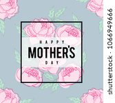 mother's day greetings  card... | Shutterstock .eps vector #1066949666