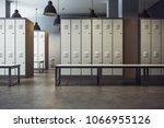 white locker room gym school... | Shutterstock . vector #1066955126