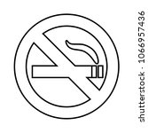no smoke area line icon ... | Shutterstock .eps vector #1066957436