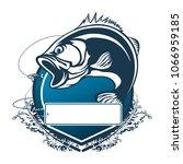 fishing bass logo. bass fish...   Shutterstock . vector #1066959185