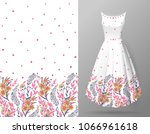cute pattern in small flowers...   Shutterstock . vector #1066961618
