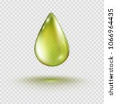 oil gold drop isolated on... | Shutterstock .eps vector #1066964435