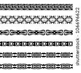 webbing  lace  border  banner... | Shutterstock . vector #106696622