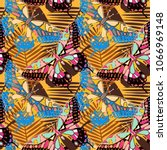 seamless pattern with... | Shutterstock .eps vector #1066969148