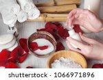 spa procedures for hands with... | Shutterstock . vector #1066971896