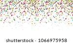 seamless colored confetti... | Shutterstock .eps vector #1066975958