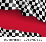 racing flag canvas realistic... | Shutterstock .eps vector #1066987832
