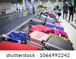 baggage on carousel at the...   Shutterstock . vector #1066992242