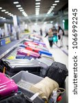 baggage on carousel at the... | Shutterstock . vector #1066992245