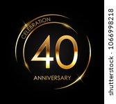 template logo 40 years... | Shutterstock .eps vector #1066998218