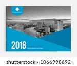 cover design for annual report... | Shutterstock .eps vector #1066998692