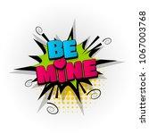 be mine heart love hand drawn... | Shutterstock .eps vector #1067003768