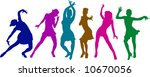 dancing girls | Shutterstock .eps vector #10670056
