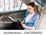 businesswoman work with digital ... | Shutterstock . vector #1067008502