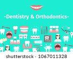 dental banner with flat icons... | Shutterstock .eps vector #1067011328