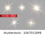 glow light effect. starburst... | Shutterstock .eps vector #1067011898