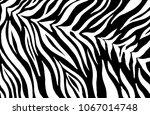 zebra print  animal skin  tiger ... | Shutterstock .eps vector #1067014748